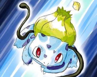 Bulbasaur Pokémon Art Print