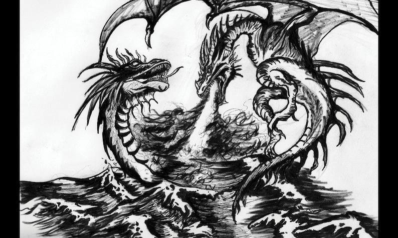 Aesthetic Dragon Art Print  Premium High-Quality Legendary image 0