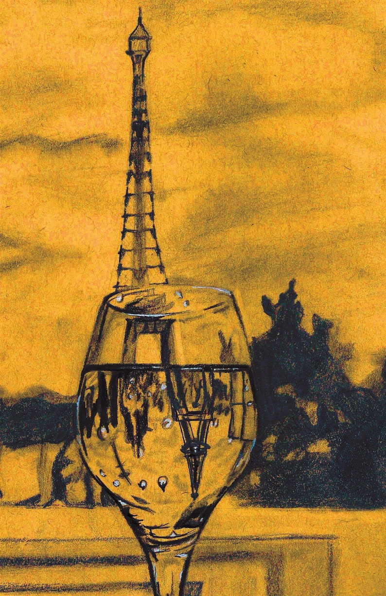 Eiffel Tower in a Wine Glass  Home Decor Ideas image 0
