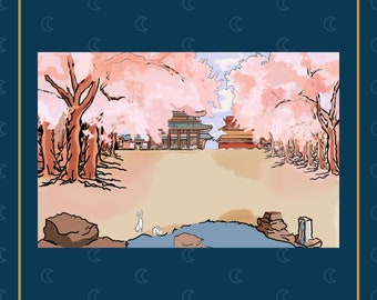 Okami Amaterasu Landscape Art Print --- Okami Art - Amaterasu Art Print - Okami Painting - Okami Print - Orochi Picture Print - Japanese Art
