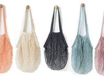 Washable mesh shopping bag, reusable bag, shopping bag, totes, plastic free bags, fashionable shopping bags, environmentally friendly bag