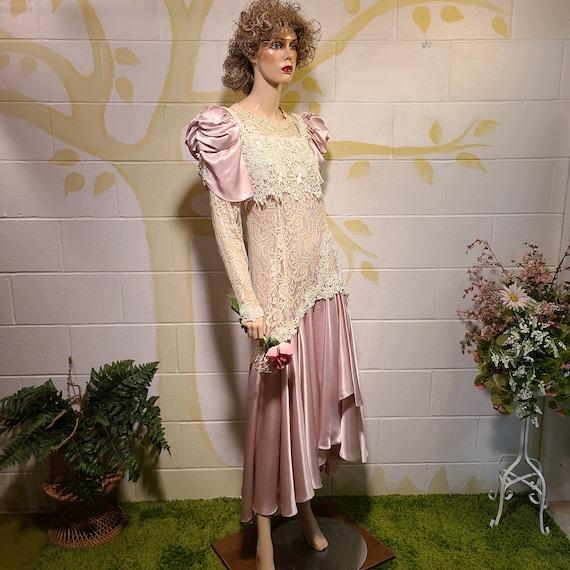 Victorian Lace, Garden Wedding, 80s Party Dress, J