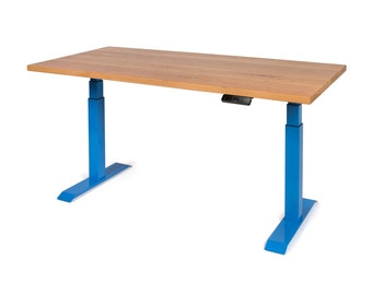 White Oak Height Adjustable Table
