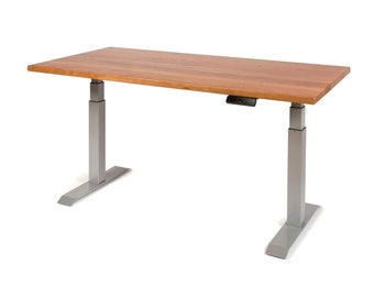 Cherry Height Adjustable Table