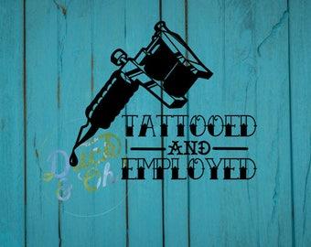 Sticker tatoué et indépendants - encré et employe décalcomanie - Tattoo-sticker de voiture - tatouage machine à sticker