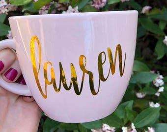 Custom Coffee Mug - Personalized Coffee Mug - Blush Mug
