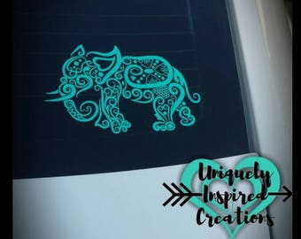 Elephant Car Window Decal