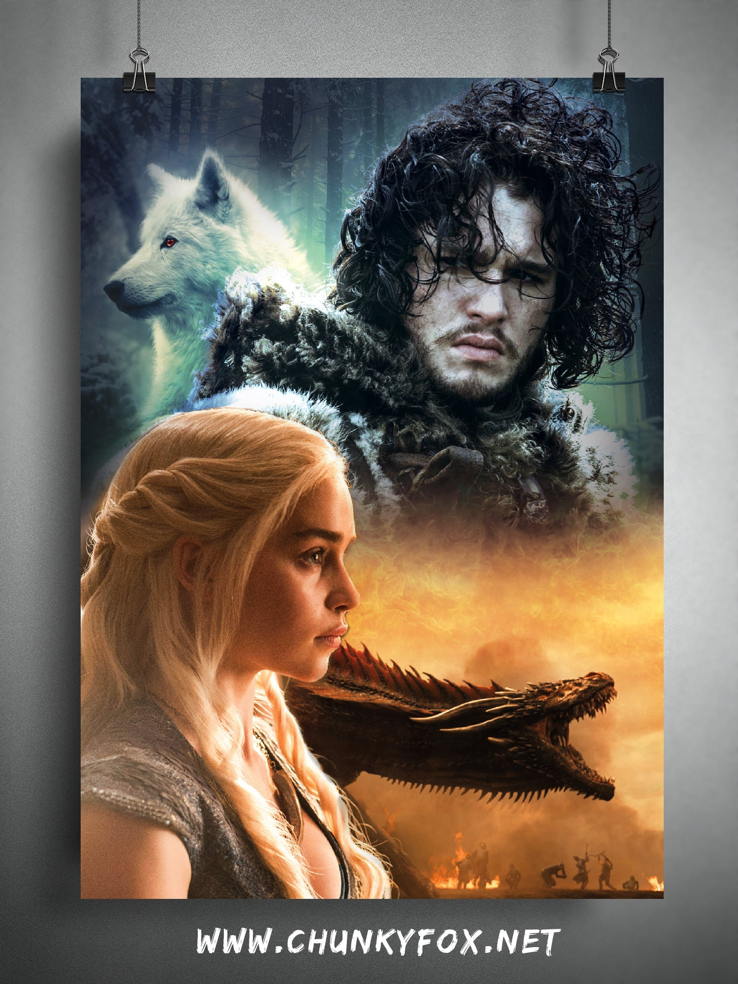 GAME OF THRONES TV Show PHOTO Print POSTER Daenerys Targaryen Emilia Clarke 023