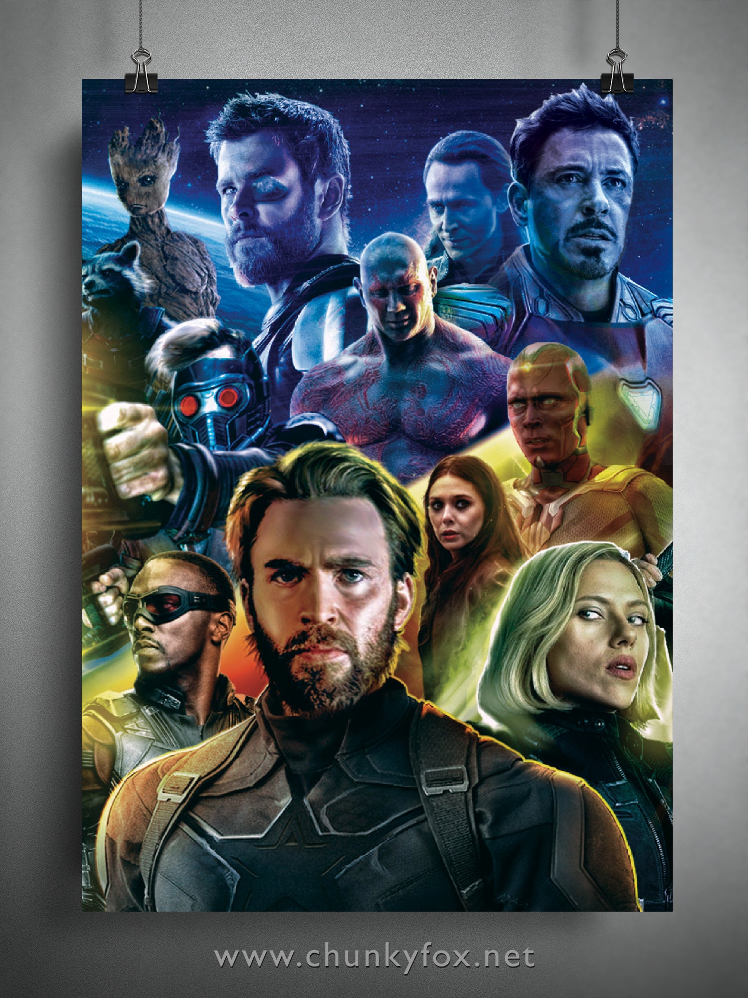 avengers infinity war poster collage movie art poster