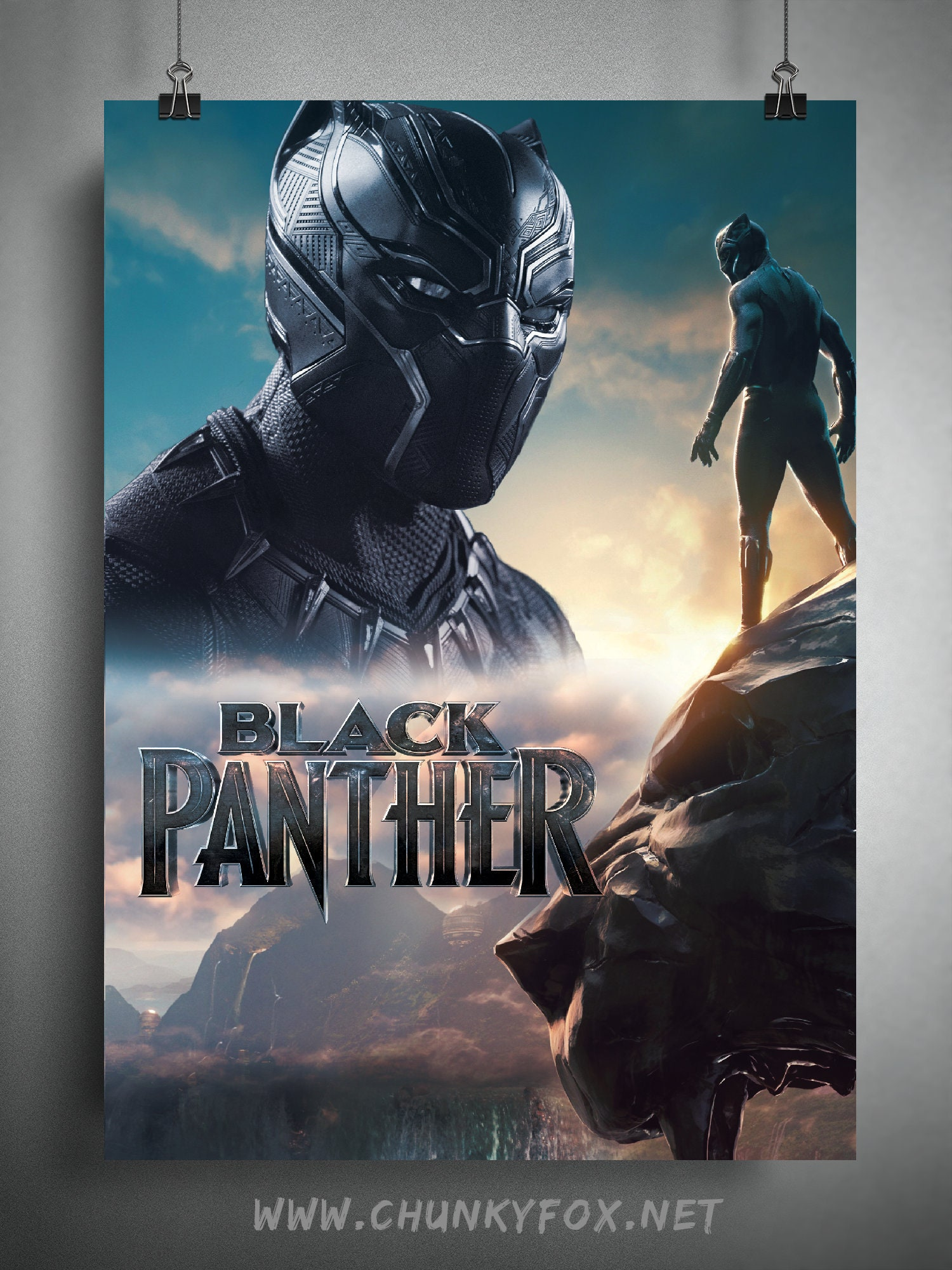 Black Panther Poster The Black Panther Movie Art Poster