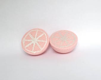 Grapefruit Bath Bomb handmade vegan bath fizzy