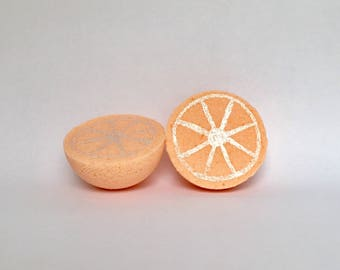 Orange Bath Bomb vegan bath fizzy