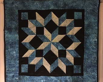 "Quilted ""Carpenters Wheel"" wall art"