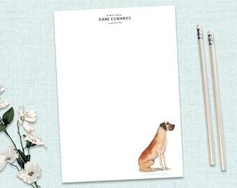 Dog Stationery Dog Owner Notepad DG1 Weim Dog Lovers Gift Social Stationery Weimaraner Personalized Notepad Custom Dog Gifts