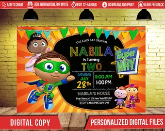 Super why birthday party invitation card printable super why etsy super why invitationsuper why birthdaysuper why partysuper why birthday invitationssuper why invitesuper why printablesuper why f0009 filmwisefo