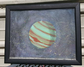 9.5x12in Framed Planet Painting