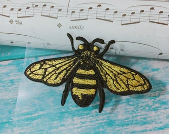 e8830055ae34 bee patch  insect patch  cool badge  iron on patch sew on patch embroidered  patch patch for jacket applique