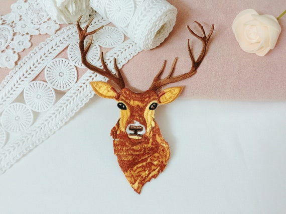 Deer Iron on Embroidery Applique Patch Sew Iron Badge