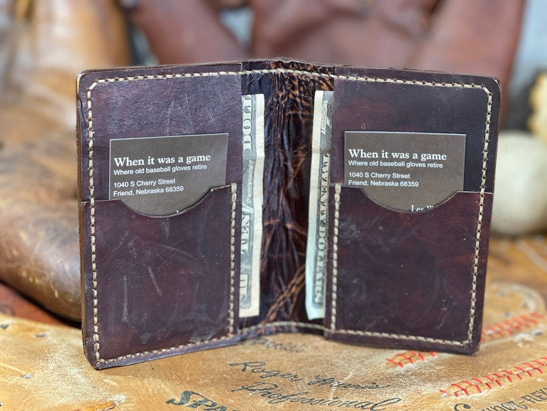 Early Vintage Glove Leather Card Wallet