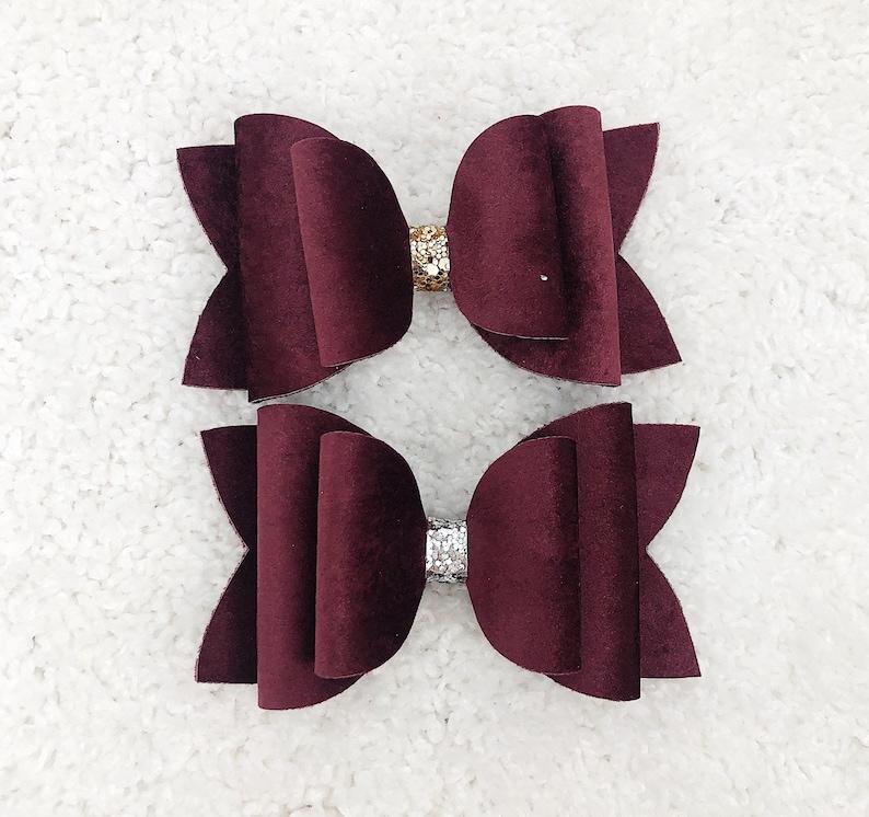 Burgundy Velvet Bow