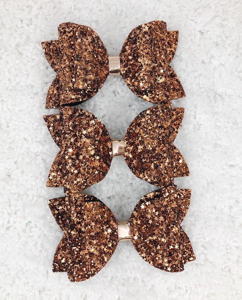 Copper Star Glitter Bow