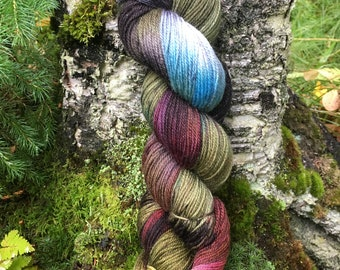 Denali Autumn - Alaskan Colors Collection, Hand painted Sock yarn inspired by the magic of Alaska