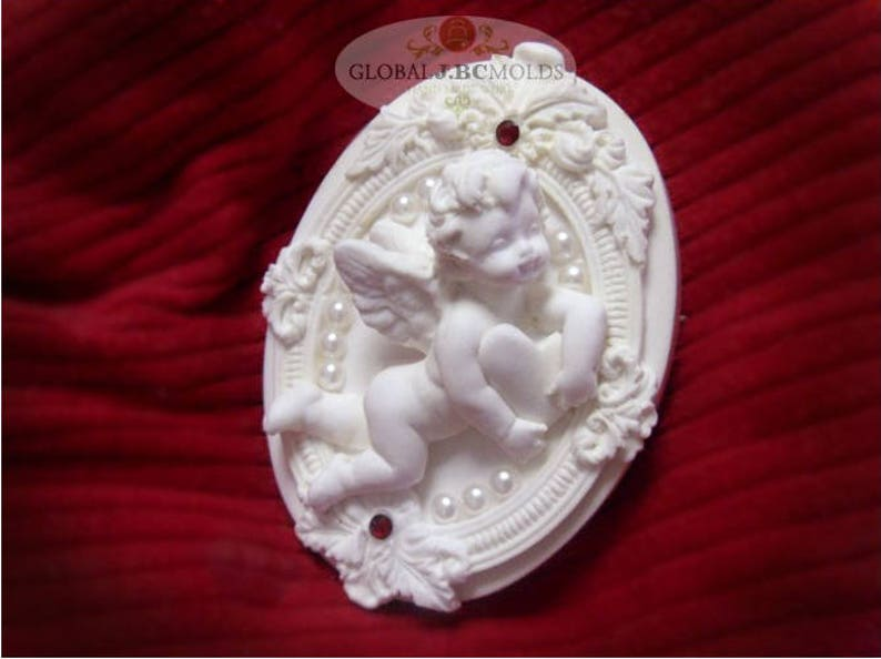 Sugarcraft Molds Polymer Clay Cake Border Mold Soap Molds Resin Candy Chocolate Cake Decorating Tools cherub mold