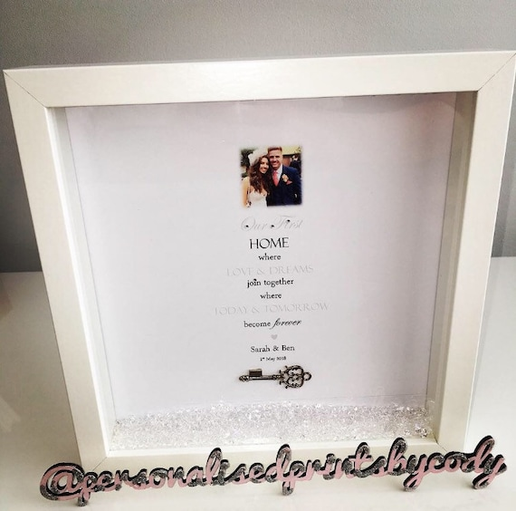 First Home Personalised Frame/ New Home