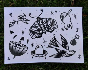 A4 American Traditional Flash Sheet