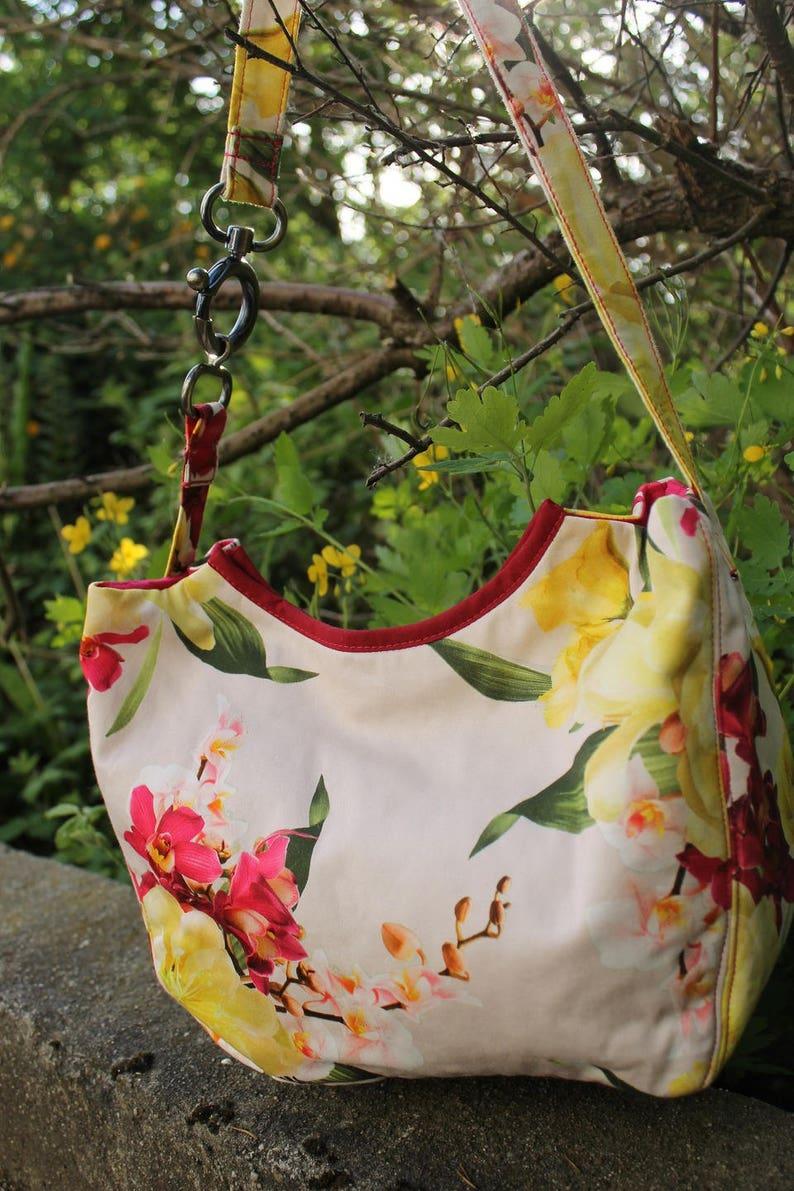 Harmony shoulder bag  Printanière with fabric image 0