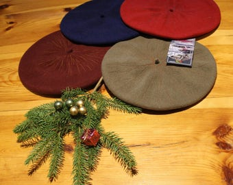 "Berets ""Psychelik"" - pure new wool – various colors - one size"