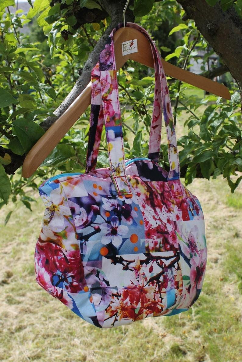 Harmony handbag  Asian with fabric handles image 0