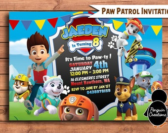 Paw Patrol Invitation Birthday Party