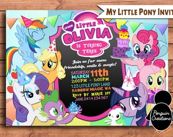 My Little Pony Invitation Birthday Party Invite Digital