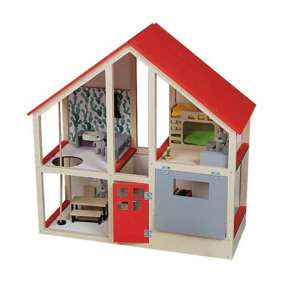 b040e299ba5 Fire station Large dollhouse Modern doll house Dollhouse | Etsy