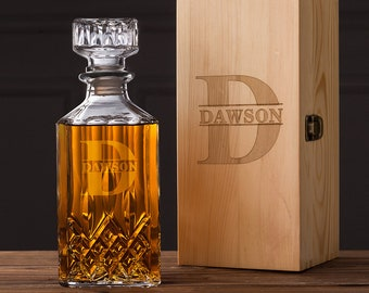 Groomsmen Gift, Groomsman Gift, Groomsmen Whiskey Decanter, Monogrammed Whiskey Decanter