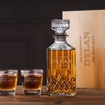 Best Man Gift - Personalized Whiskey Decanter Set - Best Man Proposal Box Whiskey Glass