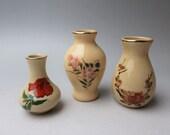 SATSUMA-pottery mini vase set. Free shipping. msjapan va175
