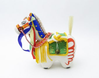 Chagu Chagu Umako.Vintage.Paper mash Horse.Hariko.local folk craft.Local toys.Head swing.1970s.#fa87.msjapan