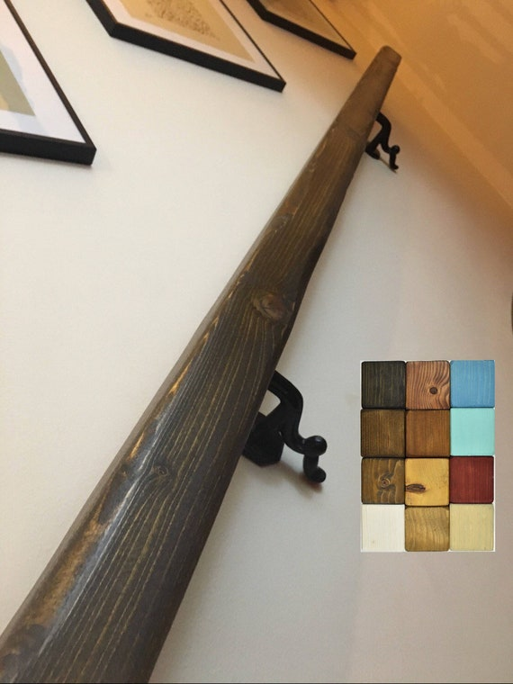Prime Handrail Wood Wrought Iron Handmade Farmhouse Country Style Solid Chunky Wooden Wall Staircase Display Railing Bannister Rail Dark Download Free Architecture Designs Embacsunscenecom