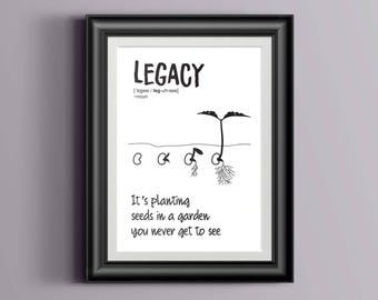 Hamilton Musical inspired - Legacy, Alexander Hamilton Quote, Typography print - Planting seeds in a garden you never get to see, Poster