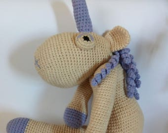 BIG XL Crocheted  Unicorn Plush, Unicorn Amigurumi, Unicorn Stuffed Animal Toy, Unicorn Plushie, Unicorn Stuffed Toy, Unicorn Soft Toy