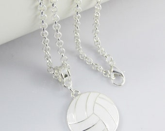 Simple infinity symbol and 3D Volleyball 11mm charms pendant necklace