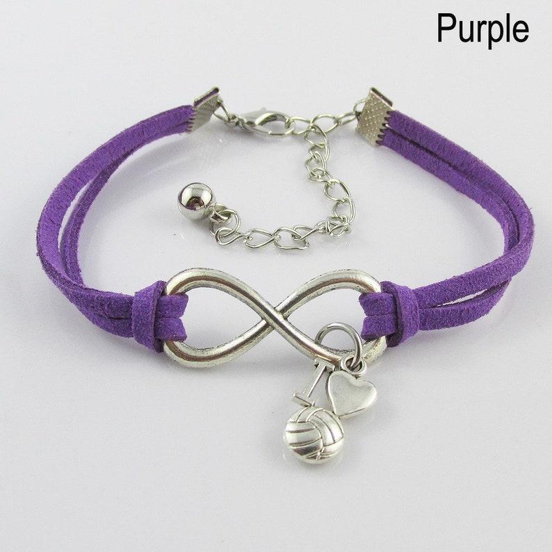 Team set of 10 Infinity Forever I Love Netball Charm Bracelet Gift 9 Colours