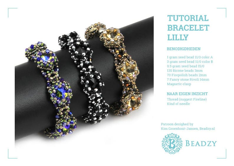 Beading Tutorial Bracelet Lilly (English) PDF file