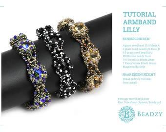 Beading Tutorial Bracelet Lilly (Nederlands/Dutch) PDF file