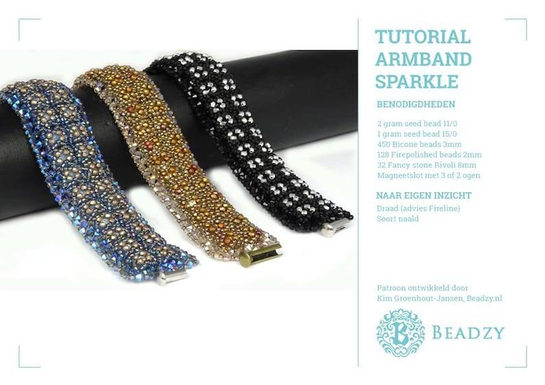 Beading Tutorial Bracelet Sparkle (Nederlands/Dutch) PDF file