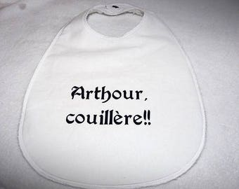 """Large bib """"table"""" glued """"Arthour couillere"""""""