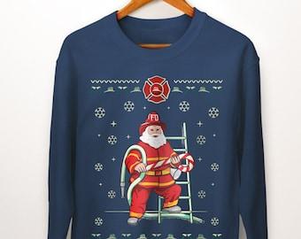 b31d6b84bd65d Firefighter Christmas Gift. Fireman Christmas Ugly Sweater. Fireman Gifts.  Firefighter Gifts. Gift for Firefighter. Firefighter Sweatshirt.