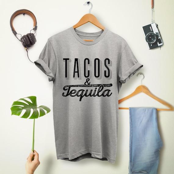 1a494fe3b69fa Tacos et chemise de Tequila. Chemise Taco. cadeau. Taco amant t ...